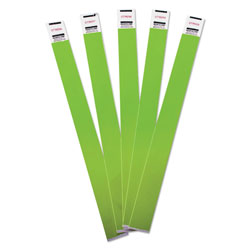 Advantus Crowd Management Wristbands, Sequentially Numbered, 9 3/4 x 3/4, Green, 500/Pack