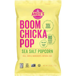 Advantus Popcorn Snack, BoomChickaPop, Sea Salt, 1 oz Bag, 24/CT