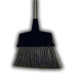 Scrubble Warehouse Broom, 12 in Wood Handle, Synthetic Bristles