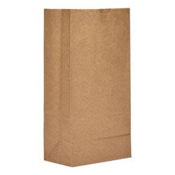 GEN #8 Paper Grocery Bag, 50lb Kraft, Heavy-Duty 6 1/8 x 4 1/8 x 12 7/16, 500 bags