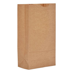 GEN Grocery Paper Bags, 35 lbs Capacity, #10, 6.31 inw x 4.19 ind x 13.38 inh, Kraft, 500 Bags