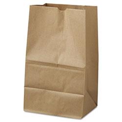 GEN Grocery Paper Bags, 40 lbs Capacity, #20 Squat, 8.25 inw x 5.94 ind x 13.38 inh, Kraft, 500 Bags