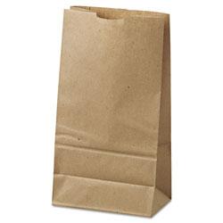 GEN Grocery Paper Bags, 35 lbs Capacity, #6, 6 inw x 3.63 ind x 11.06 inh, Kraft, 500 Bags