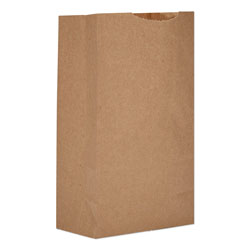 GEN Grocery Paper Bags, 52 lbs Capacity, #3, 4.75 inw x 2.94 ind x 8.56 inh, Kraft, 500 Bags