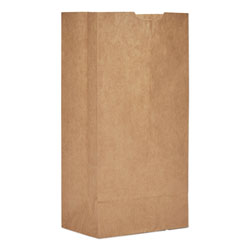 GEN Grocery Paper Bags, 50 lbs Capacity, #4, 5 inw x 3.13 ind x 9.75 inh, Kraft, 500 Bags