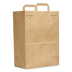GEN 1/6 BBL Paper Grocery Bag, 70lb Kraft, Standard 12 x 7 x 17, 300 bags