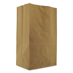 GEN Grocery Paper Bags, 57 lbs Capacity, 1/8 BBL, 10.13 inw x 6.75 ind x 14.38 inh, Kraft, 500 Bags