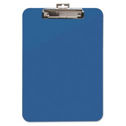 Baumgarten's Unbreakable Recycled Clipboard, 1/4 in Capacity, 8 1/2 x 11, Blue