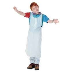 Baumgarten's Disposable Apron, Polypropylene, One Size Fits All, White, 100/Pack
