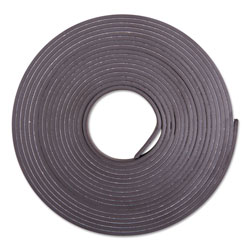 Baumgarten's Adhesive-Backed Magnetic Tape, Black, 1/2 in x 10ft, Roll