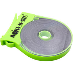 """Baumgarten's Magnetic Tape, w/Dispenser, 1/2"""" x 15', Black Tape/Green Disp."""