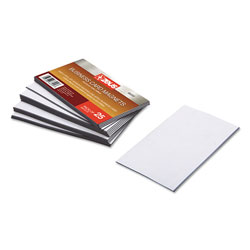 Baumgarten's Business Card Magnets, 3 1/2 x 2, White, Adhesive Coated, 25/Pack