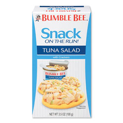 Bumble Bee® Snack on the Run Tuna Salad with Crackers, 3.5 oz Pack, 12/Carton