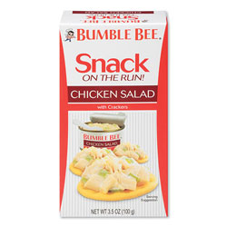 Bumble Bee® Snack on the Run Chicken Salad with Crackers, 3.5 oz Pack, 12/Carton