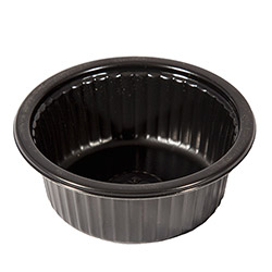 Bemis 5.3 oz. Ovenable Round Cup w/Ribs, 1350/Case