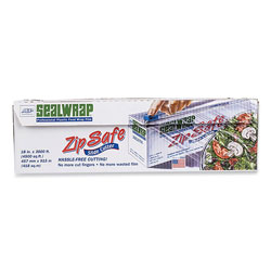 AEP SealWrap ZipSafe Food Wrap Film with Slide Cutters, 18'' x 2,000 ft Roll