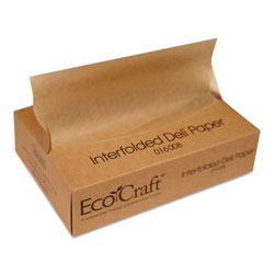Ecocraft EcoCraft Interfolded Soy Wax Deli Sheets, 8 x 10 3/4, 500/Box, 12 Boxes/Carton