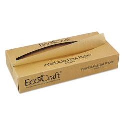 Ecocraft EcoCraft Interfolded Soy Wax Deli Sheets, 12 x 10 3/4, 500/Box, 12 Boxes/Carton