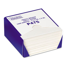 Bagcraft P475 DryWax Patty Paper Sheets, 4 3/4 x 5, White, 1000/Box, 24 Boxes/Carton