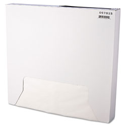 Bagcraft Grease-Resistant Paper Wraps and Liners, 15 x 16, White, 1000/Box, 3 Boxes/Carton