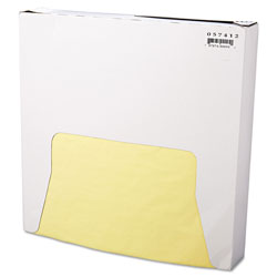 Bagcraft Grease-Resistant Paper Wraps and Liners, 12 x 12, Yellow, 1000/Box, 5 Boxes/Carton