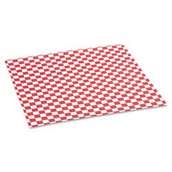 Bagcraft Grease-Resistant Paper Wraps and Liners, 12 x 12, Red Check, 1000/Box, 5 Boxes/Carton