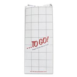 Bagcraft ToGo! Foil Insulator Deli and Sandwich Bags, 6 in x 14 in, White, To Go! Design, 500/Carton
