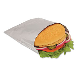 Bagcraft Foil Single-Serve Bags, 6 in x 6.5 in, Silver, 1,000/Carton