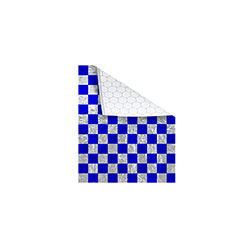 Bagcraft Foil/Paper Honeycomb Insulated Wrap, Blue Check, 10.5 x 13 in