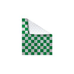 Bagcraft Foil/Paper Honeycomb Insulated Wrap, Green Check, 10.5 x 13 in