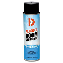 Big D Aerosol Room Deodorant, Mountain Air Scent, 15 oz Can, 12/Box