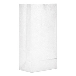 GEN #8 Paper Grocery Bag, 35lb White, Standard 6 1/8 x 4 1/6 x 12 7/16, 500 bags