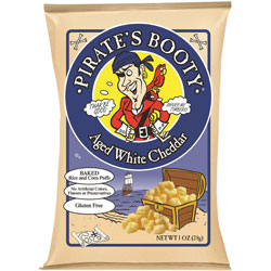 Pirate's Booty Rice and Corn Puffs, White Cheddar, 1 oz., 12/CT, Multi