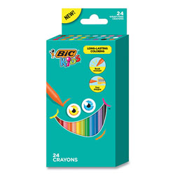 Bic Kids Coloring Crayons, 24 Assorted Colors, 24/Pack