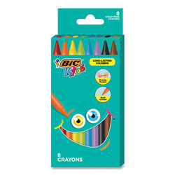Bic Kids Coloring Crayons, 8 Assorted Colors, 8/Pack
