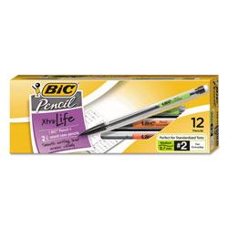 Bic Xtra Smooth Mechanical Pencil, 0.7 mm, HB (#2.5), Black Lead, Clear Barrel, Dozen