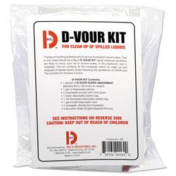 Big D D'vour Clean-up Kit, Powder, All Inclusive Kit, 6/Carton