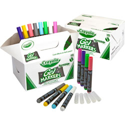 Crayola Washable Gel FX Classpack Markers, Eight Assorted Colors, 80/Pack