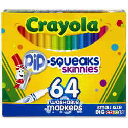 Crayola Washable Pip-Squeaks Skinnies Markers, 64 Colors