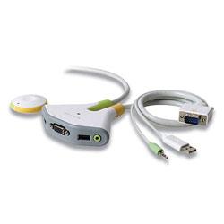 Belkin Flip KVM Switch with Remote, 2 Ports