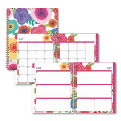 Blue Sky Mahalo Academic Year CYO Weekly/Monthly Planner, 11 x 8.5, Tropical Floral, 2020-2021