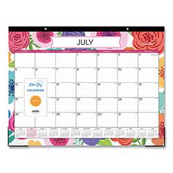 Blue Sky Mahalo Academic Year Desk Pad, 22 x 17, Tropical, 2020-2021