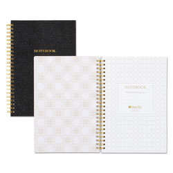 Blue Sky Notebook, 1 Subject, Colleg Rule, Black Cover, 8.5 x 5.75, 80 Sheets
