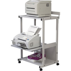 Balt Max Stax Dual Purpose Printer Stand, 25w x 20d x 42 1/2h, Gray