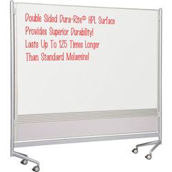 Balt Dry Erase Board, 76 inx74 in, Silver Frame