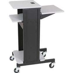 Balt Adjustable Presentation Cart, 18w x 30d x 40.25h, Black Powder Coated Steel