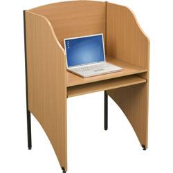 Balt 89868 Floor Privacy Study Carrel, Teak Laminate