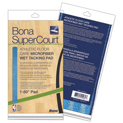 Bona® SuperCourt Athletic Floor Care Microfiber Wet Tacking Pad, 60 in, Light/Dark Blue