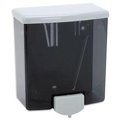 Bobrick ClassicSeries Surface-Mounted Soap Dispenser, 40oz, Black/Gray