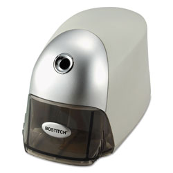 Stanley Bostitch QuietSharp Executive Electric Pencil Sharpener, AC-Powered, 4 in x 7.5 in x 5 in, Gray